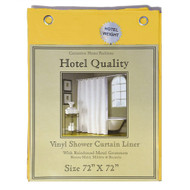 Hotel Quality 8-gauge Anti Mildew Shower Curtain Liner Metal Grommets, Canary Yellow