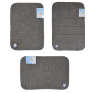 Dark Gray Memory Foam Bath Mat/area rug: Non-skid, Absorbent, 17 X 24 or 20 X 30