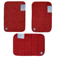 Red Memory Foam Bath Mat/area rug: Non-skid, Absorbent, 17 X 24 or 20 X 30