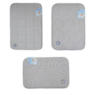 Silver Memory Foam Bath Mat/area rug: Non-skid, Absorbent, 17 X 24 or 20 X 30