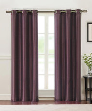 Two Purple Grommet Window Curtain Panels 80 x 84