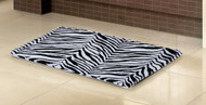 "Black and White Zebra Print Memory Foam Bath Mat/area Rug : 17"" X 24"", Non-skid Backing"