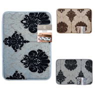 "Floral Design Memory Foam Bath Mat/rug : 17"" X 24"" or 20"" X 30"", Non-slip, Soft Padded"