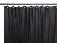 Carnation 3 Gauge Vinyl Shower Curtain Liner with Weighted Magnets and Metal Grommets, Black