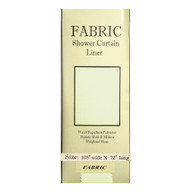 """Extra Wide Carnation Fabric Shower Curtain Liner Ivory 108""""x72"""""""