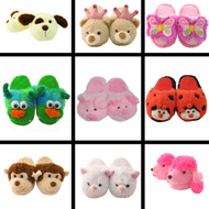 Kid's/Children's Non-Slip Plush Animal Character Slippers