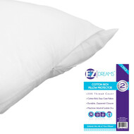EZ Dreams Queen Size Cotton Rich Pillow Protector: 200 Thread Count, Zippered