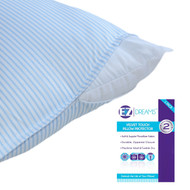 EZ Dreams King Size Velvet Touch Striped Pillow Protector: Microfiber, Zippered