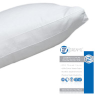 EZ Dreams Gusseted Zippered Pillow Protector: 100% Cotton, 250 Thread, Queen