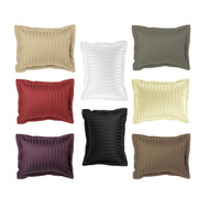 Luxury Pillow Sham: 100% Egyptian Cotton, 500 Thread Count, Standard Size, Striped Pattern, 26in x 20in