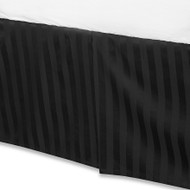 "Black Luxury Bed Skirt: 100% Egyptian Cotton, 500 Thread Count, 15"" Drop"