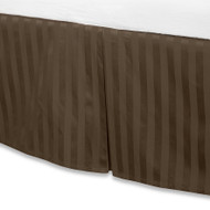 "Brown Luxury Bed Skirt: 100% Egyptian Cotton, 500 Thread Count, 15"" Drop"