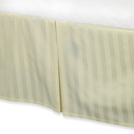 "Cream Colored Luxury Bed Skirt: 100% Egyptian Cotton, 500 Thread Count, 15"" Drop"
