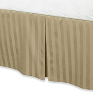 "Taupe Luxury Bed Skirt: 100% Egyptian Cotton, 500 Thread Count, 15"" Drop"