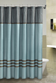 Fabric Shower Curtain: Flocked, 4 Colors