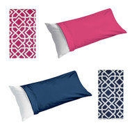 Body Pillow Protector Cover/Case: 20in x 54in, Zippered Closure, Pink or Blue