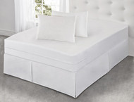 All-in-One Mattress Protector with Bed Bug Blocker: Triple Seal Zipper, Total Encasement System