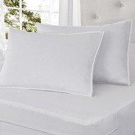 2 Pack All-in-One Pillow Protector: Bed Bug Blocker, Waterproof, Stain Resistant