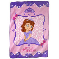 Disney Sofia the First Plush Blanket: 62in x 90in, Real Life Princess