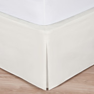"Ivory Luxury Hotel Bed Skirt: Tailored Pleat, 14"" Drop"