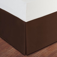 "Chocolate Brown Luxury Hotel Bed Skirt: Tailored Pleat, 14"" Drop"