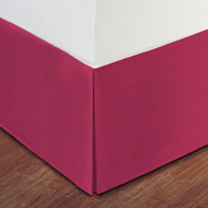"""Pink Luxury Hotel Bed Skirt: Tailored Pleat, 14"""" Drop"""