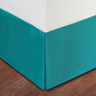 "Turquoise Luxury Hotel Bed Skirt: Tailored Pleat, 14"" Drop"