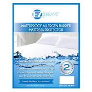 "Waterproof Allergen Barrier Mattress Protector: Breathable Knit Fabric, 18"" drop"