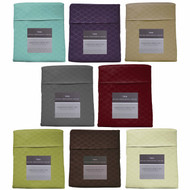 3-Piece Twin Size Bed Sheet Set: Double Brushed Microfiber, Embossed, Easy Care, Iron Free