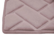 "Mauve Memory Foam Bath Mat Rug: 20"" x 30"", Brick Design, Soft, Non Slip Backing"