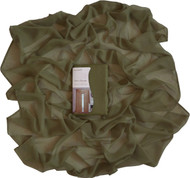 "Olive Green Sheer Window Curtain Voile Scarf: 55""x 216"", Fully Hemmed on all 4 sides"
