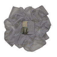 """Charcoal Gray Sheer Window Curtain Drape Panel: 55"""" x 84"""", Fully Hemmed on all 4 sides"""