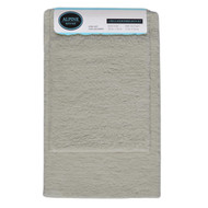 Silver 2-Pc Plush Bath Mat/Rug: Non-Slip Backing, 20in x 30, 17in x 24in