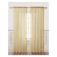 Taupe Sheer Window Curtain Panel 2 Piece  Set: Silky Chiffon, 55x84