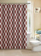 Ivory Fabric Shower Curtain: Cinnamon/Rust Ikat Diamond Design