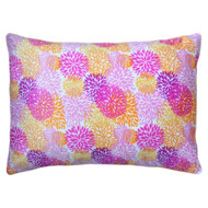 Reversible Soft Pillow Cover Case: Zippered, Orange, Pink, Purple Floral Design