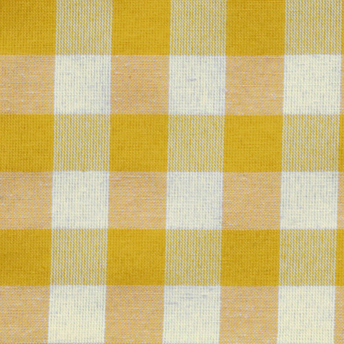 Yellow Gingham Fabric: 35% Cotton