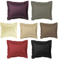 Luxury Pillow Sham: 100% Egyptian Cotton, 500 Thread Count, Square Euro Size, Striped Pattern, 26in x 26in