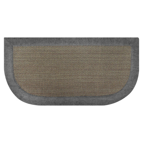 Taupe and Gray Basket-Weave Design Slice Kitchen Floor Mat: 20in x 40in