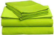 Lime Green Microfiber Sheet Sets: Bright Vivid Color