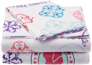 "Disney Frozen Anna and Elsa ""Snowflake"" Sheet Set: Twin, One Pillow Cases, One Flat & One Fitted Sheet"
