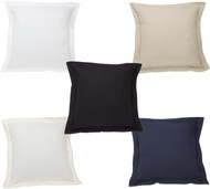 Luxury Pillow Sham: Cotton Blend, Square Euro Size, Solid Pattern, 26in x 26in.