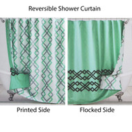 Reversible Fabric Shower Curtain