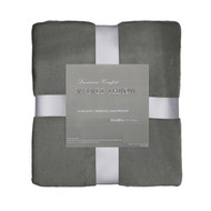 Gray Velvet Plush Throw Blanket: Super Soft, Warm, 50in x 60in