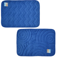 Blue Memory Foam Bath Mat/Area Rug