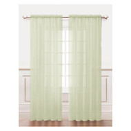 Ivory Sheer Window Curtain Panel 2Pc Set: Silky Chiffon, 55in x 84in
