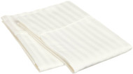 "2 Pack Off-White Pillowcase Protector: Striped, 100% Cotton, 200 TC, Queen 20"" x 30"""