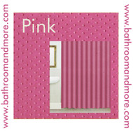 "Pink Fabric Shower Curtain:  Diamond Silk Pattern, 70""W x 72""L"