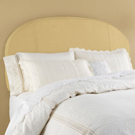 King Sized Inflatable Upholstered Headboard: Gold Diamond Matelasse, Air Pump Included