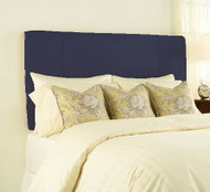 Twin Sized Inflatable Upholstered Headboard: Navy Brushed Twill, Air Pump Included